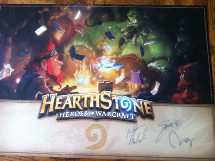 Hearthstone Mini-Poster Signed 2